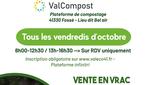 Ventes de compost en vrac sur inscription à Valcompost